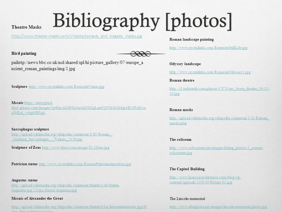Bibliography [photos]